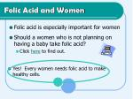 folic acid and women
