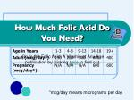 how much folic acid do you need