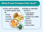 what foods contain folic acid
