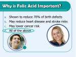 why is folic acid important