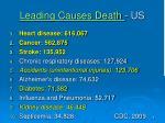 leading causes death us