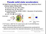 pseudo solid state accelerators