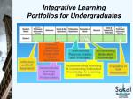 integrative learning portfolios for undergraduates