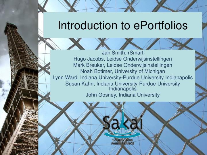 introduction to eportfolios n.