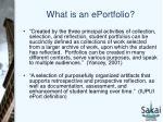 what is an eportfolio1