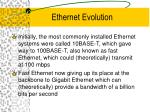 ethernet evolution