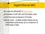 gigabit ethernet mac