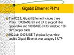 gigabit ethernet phys