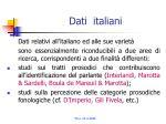 dati italiani