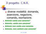 il progetto c n r2