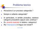 problema teorico