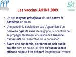 les vaccins ah1n1 2009