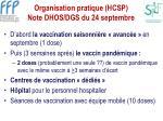 organisation pratique hcsp note dhos dgs du 24 septembre