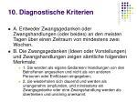 10 diagnostische kriterien