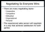 negotiating so everyone wins