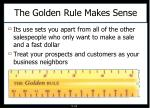 the golden rule makes sense