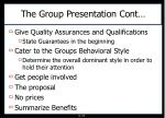 the group presentation cont1