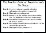 the problem solution presentation s six steps