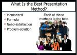 what is the best presentation method