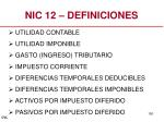 nic 12 definiciones