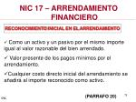 nic 17 arrendamiento financiero