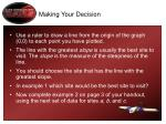 making your decision