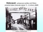 holocaust vyhlazovac politika v i id m kone n e en idovsk ot zky 5 6 milion ob t