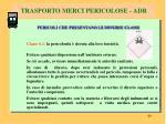 trasporto merci pericolose adr5