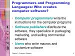 programmers and programming languages who creates computer software