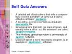 self quiz answers