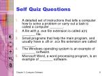 self quiz questions