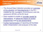conclusions on zoonoses data collection