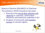 data collection on zoonoses in eu