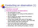 conducting an observation 1