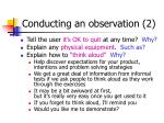 conducting an observation 2