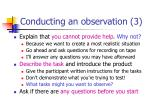 conducting an observation 3