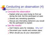 conducting an observation 4