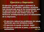 ejercicio y depresi n