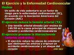 el ejercicio y la enfermedad cardiovascular