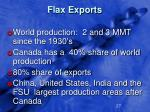 flax exports