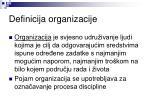 definicija organizacije