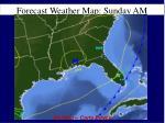 forecast weather map sunday am