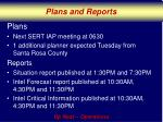 plans and reports