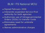 blm fs national mou