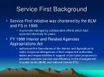 service first background