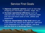 service first goals