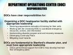 department operations center doc responsibilities