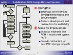 established sss design review process