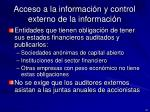 acceso a la informaci n y control externo de la informaci n