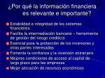 por qu la informaci n financiera es relevante e importante